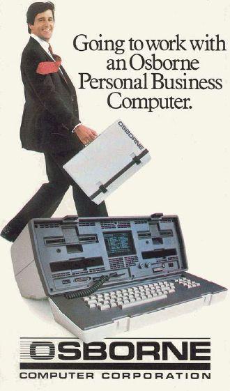 """Going to work with an Osborne Personal Business Computer.""    Alguem já teve um deste?"