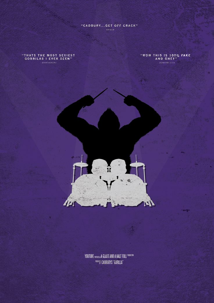 Cadburys Drumming Gorilla Viral Video Movie Poster from Retina Burn Blog http://www.retinaburnblog.co.uk