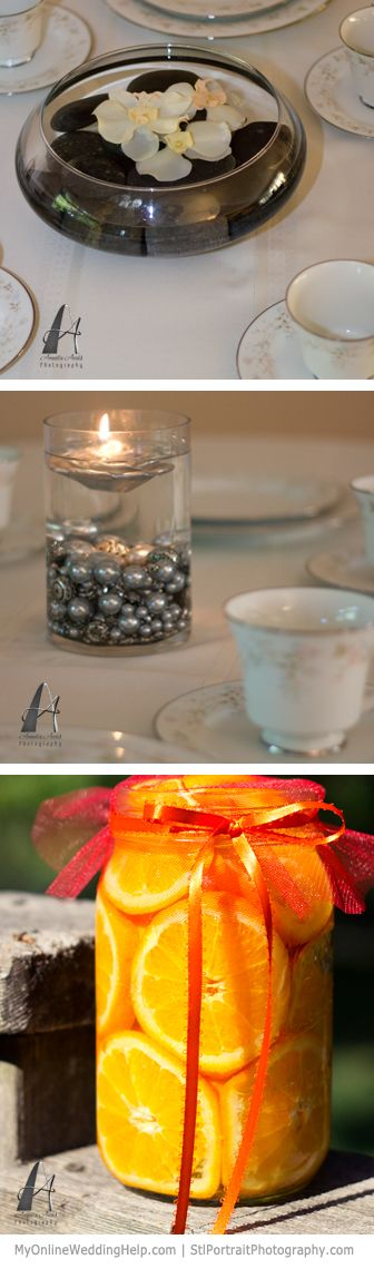Water centerpieces