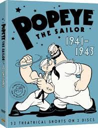 Popeye the sailor, children's cartoon character in World War II