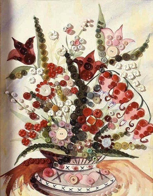 Realizeaza si tu obiecte decorative din nasturi – 13 idei frumoase