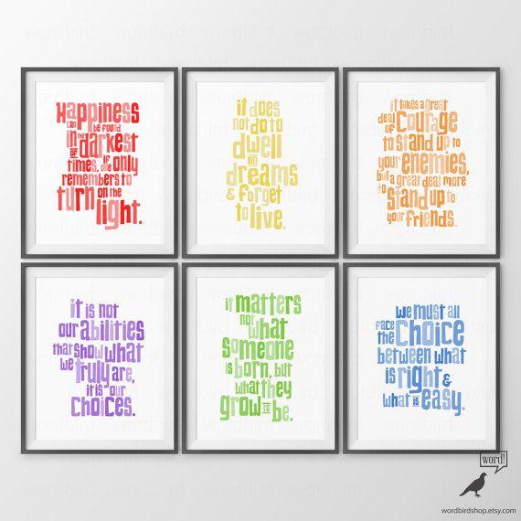 Harry Potter Kindergarten zitiert Print Set Baby von WordBirdShop