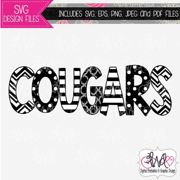 Vinyl Cutter Software >> SVG DESIGN FILE: Cougars Mascot Design for by LWDDigital ...