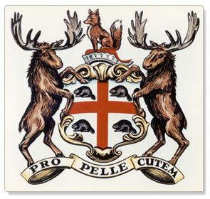 Coat of arms of the Hudson's Bay Trading Company. The beavers are so cute! Hudson's Bay was started around 1620 to profit from the fur trade, particularly beaver.
