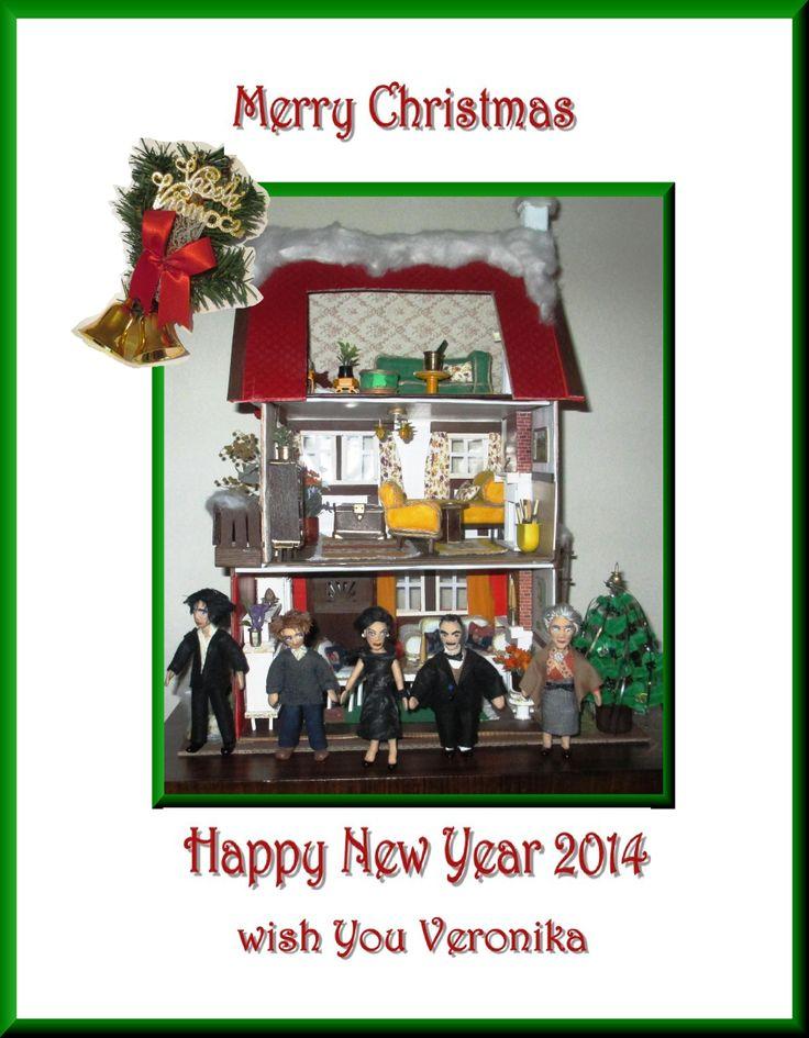 My dollhouse seasons greetings for you :-)