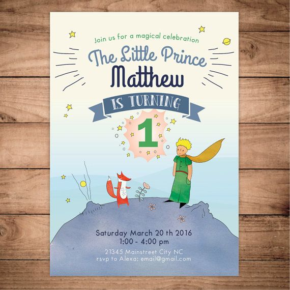 17 Best ideas about Little Prince Party – Little Prince Birthday Invitations