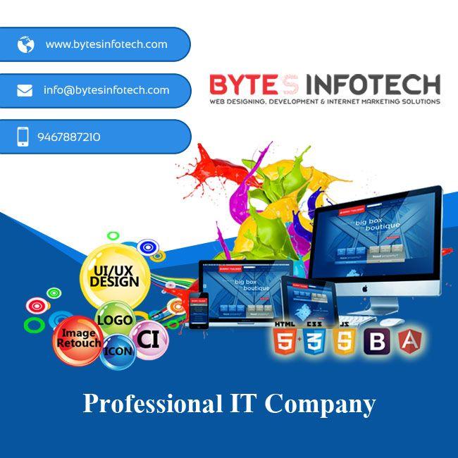 Www Bytesinfotech Com Offers Quality And Cost Effective Web Designing Services Providing Busine Professional Website Design Web Development Design Web Design