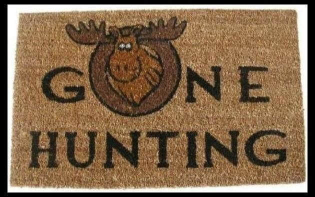 Outdoor Doormat - Coir Mat - Hunting Moose