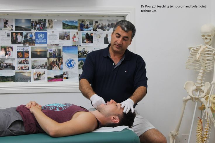 Dr. Shahin Pourgol, MBA, DC, DO, PhD, who is also founder & president of National Academy of Osteopathy (Canada) & National University of Medical Sciences (USA) teaching joint techniques. Source: http://www.numss.com/Gallery.html