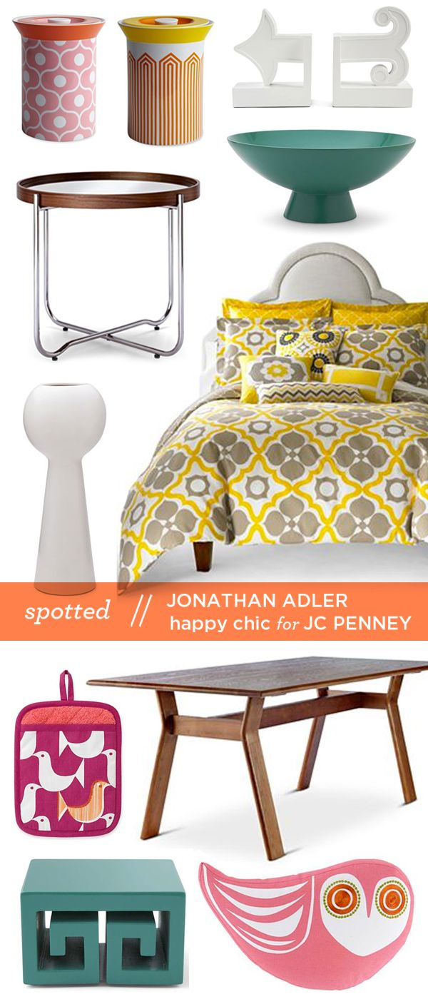 jonathan adler happy chic at jcpenney for the home pinterest jonathan adler bedrooms and. Black Bedroom Furniture Sets. Home Design Ideas