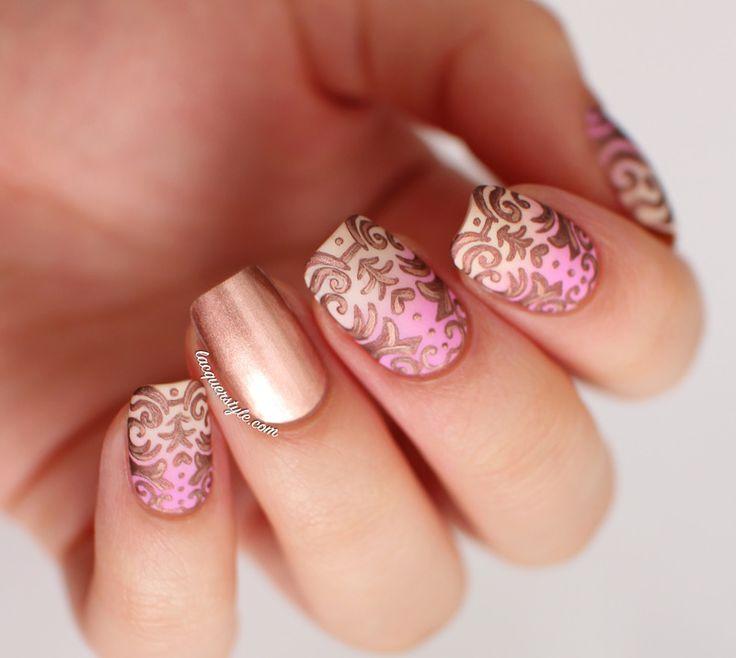Nailpolis Museum of Nail Art | Romantic Baroque Nail Art  by Kristin (Lacquerstyle)
