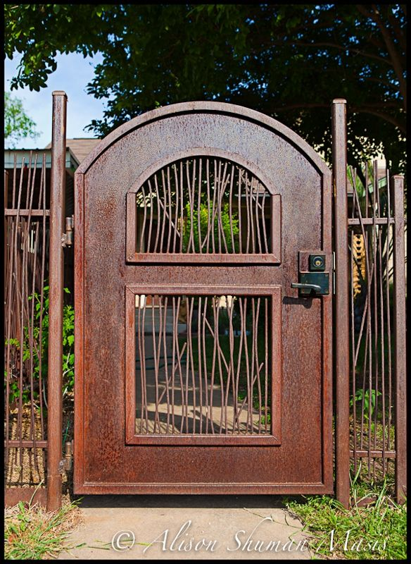 60 best images about home outside fence on pinterest for Garden fencing ideas metal