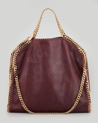 Stella McCartney Falabella Fold-Over Shoulder Bag, Need the burgundy one too. Its not even funny how much I want this bag.