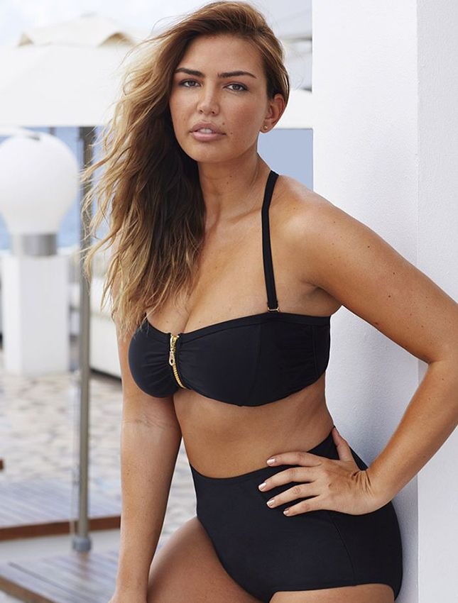 48146505c4 Keep it simple with a black bikini.   Style   Bikinis, Plus size swimsuits,  Plus size bikini