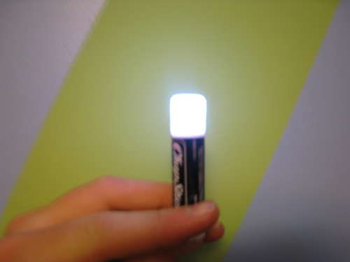 instructions for turning a chapstick tube into a tiny LED flashlight