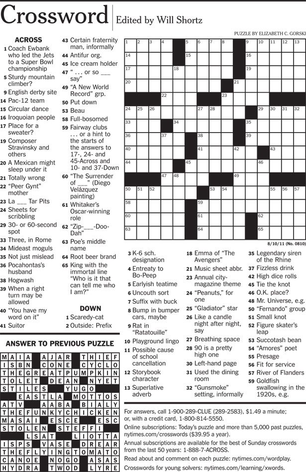 It's just a graphic of Witty Nyt Crossword Printable