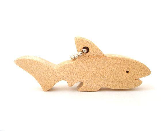 Tiburón llavero madera Sierra de contornear por OohLookItsARabbit