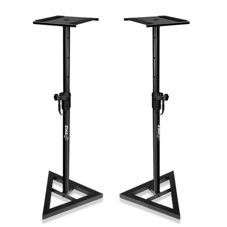 Pyle Heavy Duty Telescoping Height Adjustment Monitor Speaker Stands (Pair)