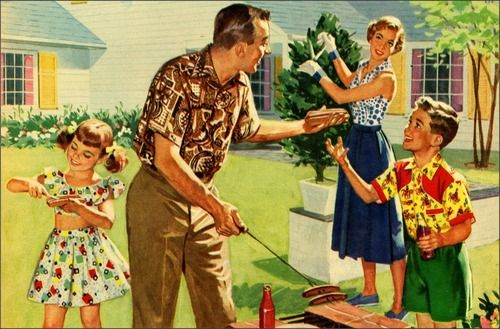 Family Cookout, 1950s