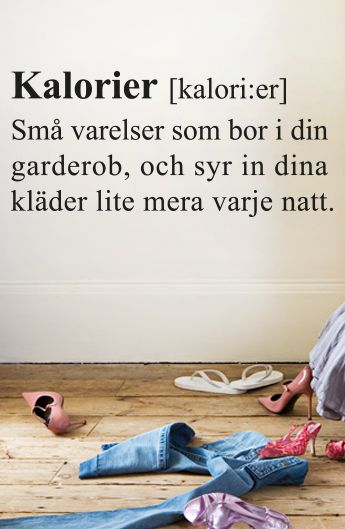 Väggtext: Definition av Kalorier