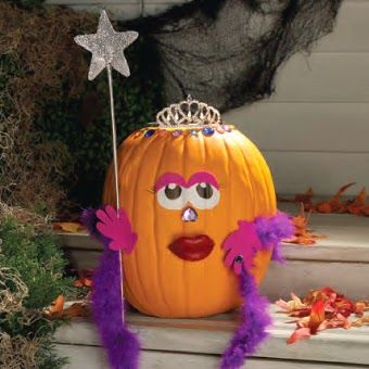 Purple Princess Pumpkin Holidays Halloween Jack O