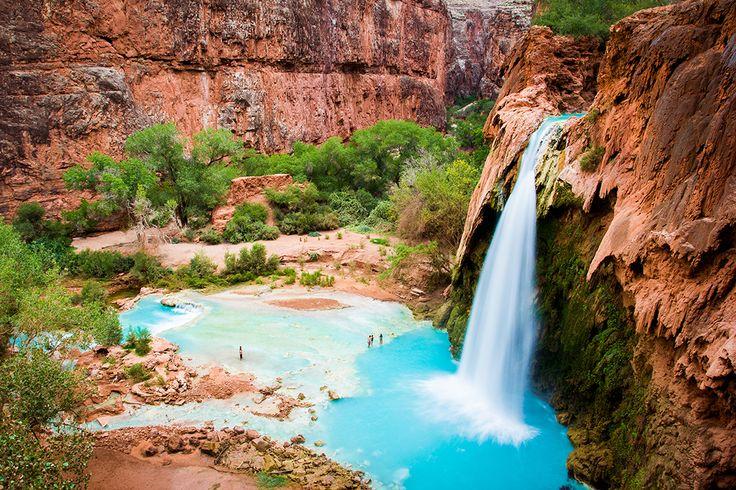 Havasu Falls, Arizona #zwembad #waterval #arizona #cool