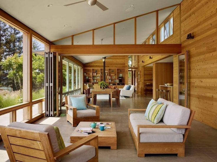 This A Light Airy Fun Environment The Knotty Pines Color Draws In Light And  Complements The