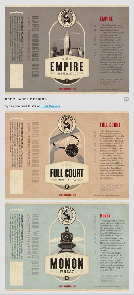 Beer Label Designs by Kurtis Beavers.
