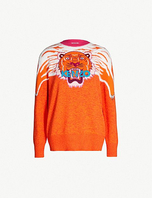 abfcb09a5b KENZO Tiger Claw cotton-blend jumper | WOMEN'S FAHSION CLOTHING ...