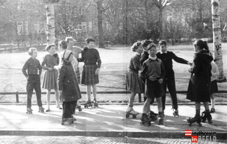 Rolschaatsbaan bij het Gerarduspark. - eindhoveninbeeld.com