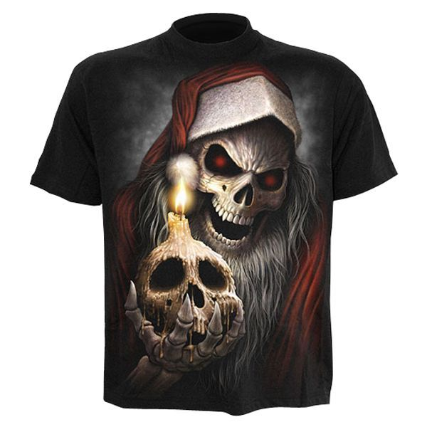 Spiral The Anti-santa T-shirt Short Sleeve Adult Christmas night  all is quiet or is it? What surprise does this Reaper Santa have in his sack of Death for you... Collecting festive souls this evil twin stands for everything Anti-Santa!Features- To http://www.MightGet.com/march-2017-1/spiral-the-anti-santa-t-shirt-short-sleeve-adult.asp