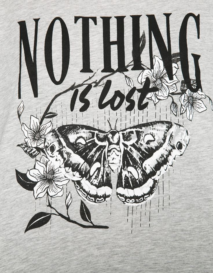 Maglietta stampa 'Midnight/Nothing' - T- Shirts - Bershka Italy