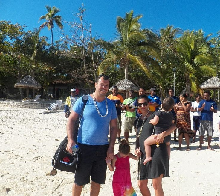 Michael Cheika coach of the WARATAHS on a holiday with his family at Treasure Island.....very exciting for our staff!
