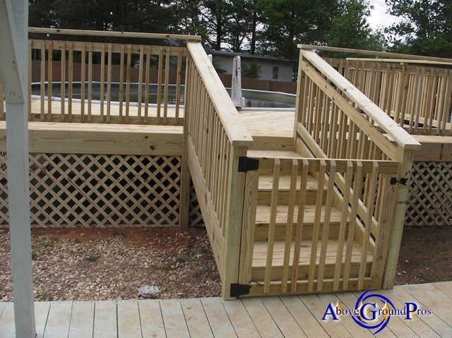 Above Ground Pool Decks For Sale >> gate/lock | Pool deck ideas | Pinterest