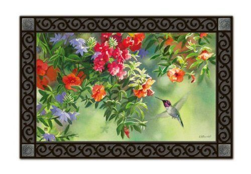 """'Flavors of Summer' MatMate ONLY by MagnetWorks. $20.00. Non-slip recycled rubber backing.. Approx. 18"""" x 30"""". Printed mat insert with recycled rubber backing. Can be used stand-alone or as interchangeable inserts in our MatMatesTM outdoor decorative tray or indoor Comfort TrayTM (as shown, sold separately)."""