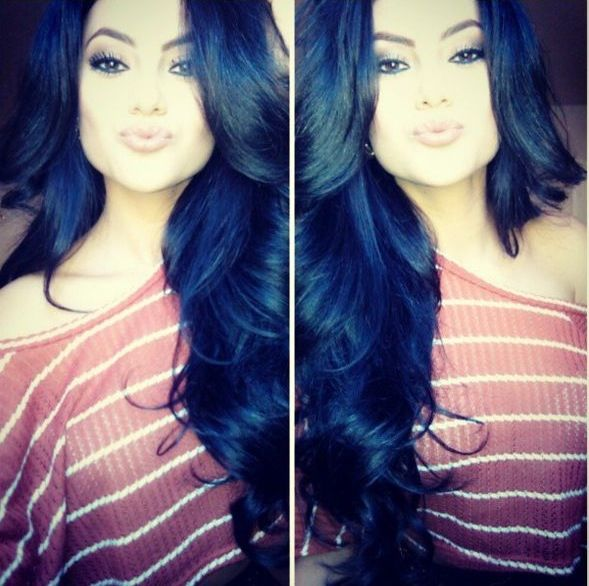Best 25 hair black blue ideas on pinterest blue black hair amazing black hair sometimes i feel like doing something different to my hair then i see pmusecretfo Image collections