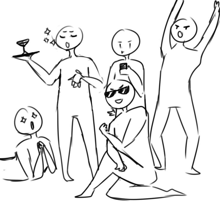 moosetool:  draw the squad like this If you use this, please tag me, I want to see your art >:0