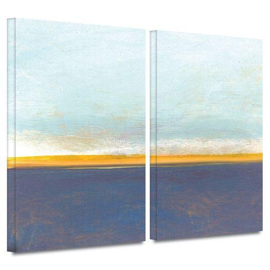 ArtWall Big Country Sky I  by Jan Weiss 2 Piece Canvas Art Set