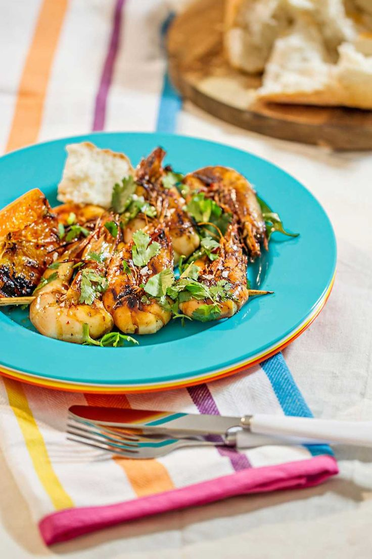 Seared Prawn Skewers with Mandarin Soy Glaze - Cooking with Tenina