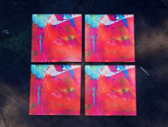 Glass Coasters Set of 4 Red Rock by Zero12Photography on Etsy