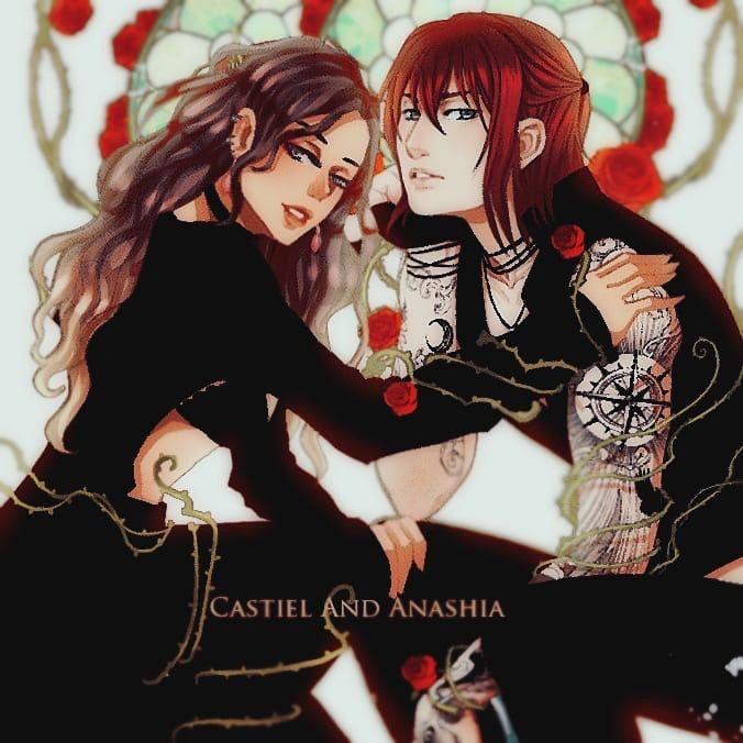 Castiel And Anashia By Trinirfz Anime Amor Casal Amor Doce