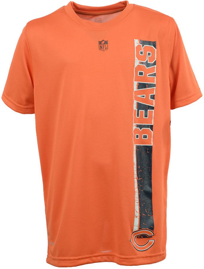 adidas Boys' Chicago Bears Shatter Text Dri-Tek T-Shirt