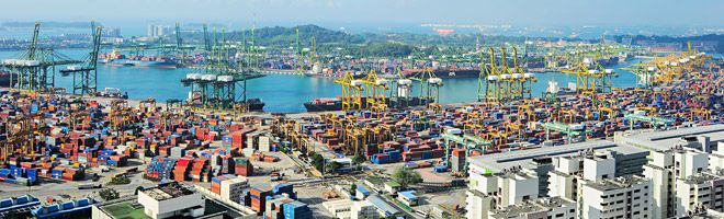 The Port of Singapore is one of the busiest container ports in the world. Singapore has increased the volume of trade flows between both nations. The Port of Singapore in supporting Asia's container traffic, and the positive role China is playing in increasing regional trade flows.