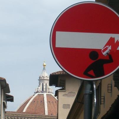 street art by Clet http://restreet.altervista.org/clet-lartista-dei-cartelli-stradali/