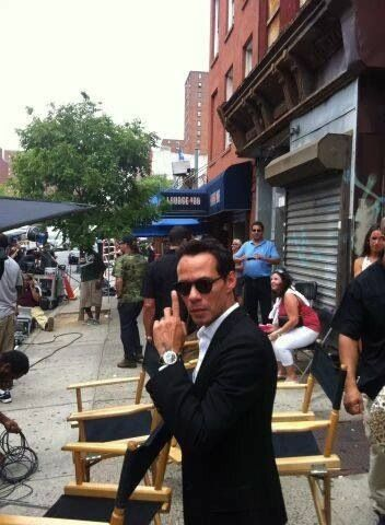 Salsa sensation Marc Anthony spotted today in Spanish Harlem
