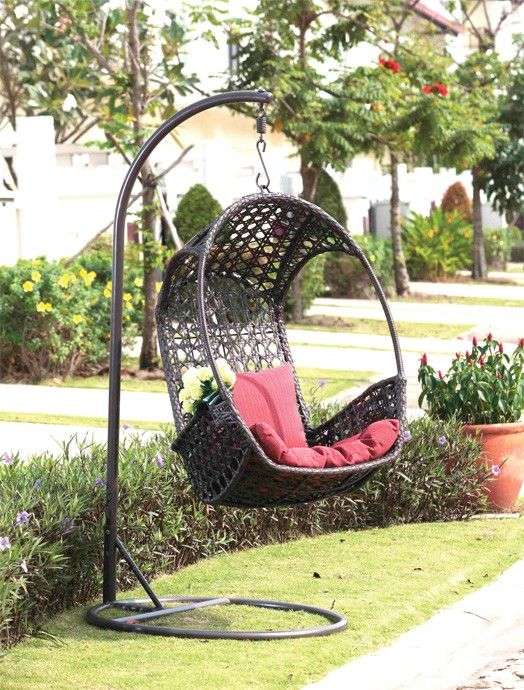 Relax This Summer And Feel The Gentle Breeze With Our Comfortable MACAU  Hanging Patio Lounger. Durable Steel Frame With Weather Resistant Two Tone  Brown ...