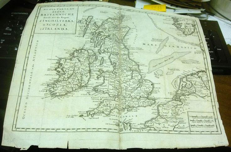 Nuova Carta dell' Isole Britanniche divise nei tre Regni d'Inghilterra, di Scozia, e d'Irlanda