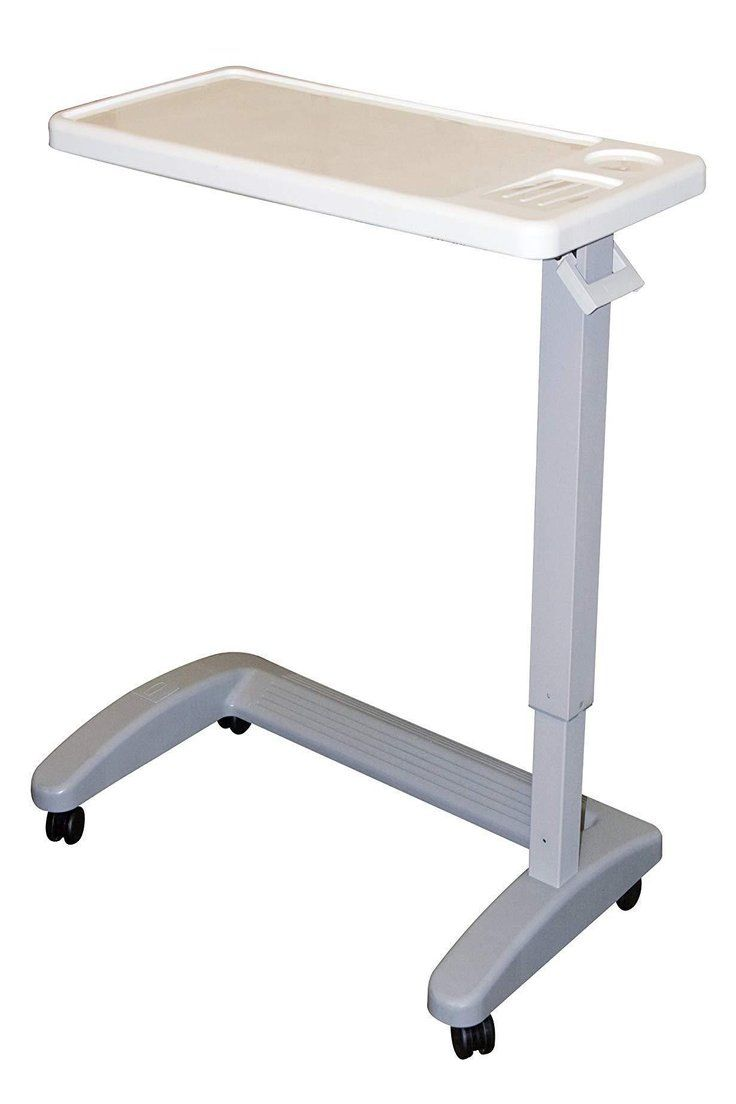 114 80 Overbed Table Hospital Mobile Adjustable Bed Medical Wheeled Tray Over Rolling Overbed Table Hospit Overbed Table Hospital Bed Table Bed Table