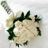 Simply White Bridal Bouquet - Simply White Bridal Bouquet > View Full-Size Im... | White, Simply, Brides, Aud, Purchased | Bunc $98
