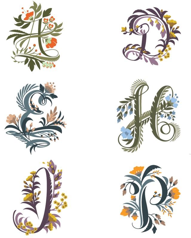 Floral Alphabet by Jill DeHaan